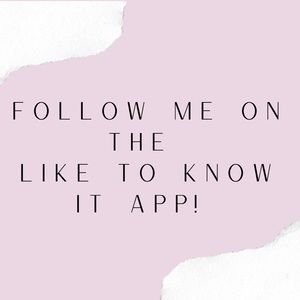 Follow me on Like to know it app